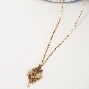 Vintage Gold & Copper Leaf Necklace